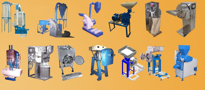 Industrial crushing, grinding and pulverizing equipments