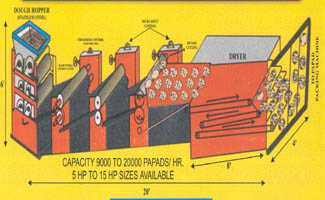 Section View of Papad Machine